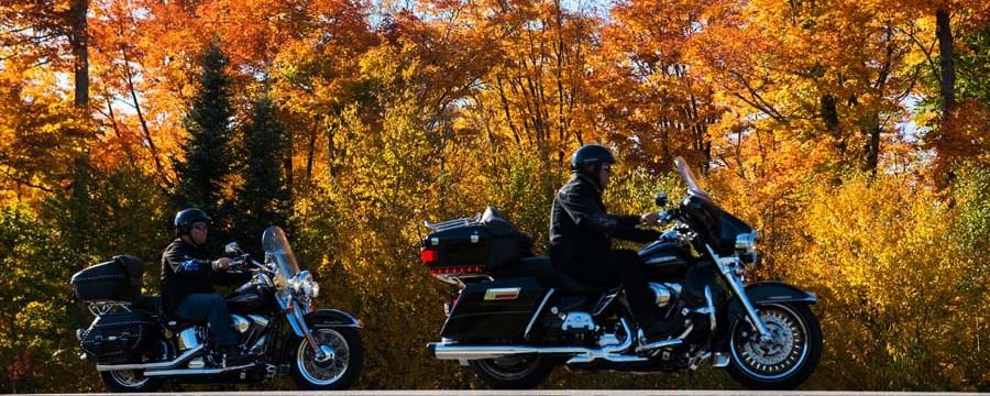 Escapade en moto cet automne