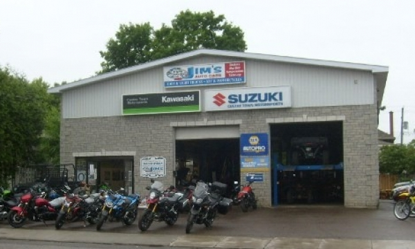 Front of building with Motorcycles