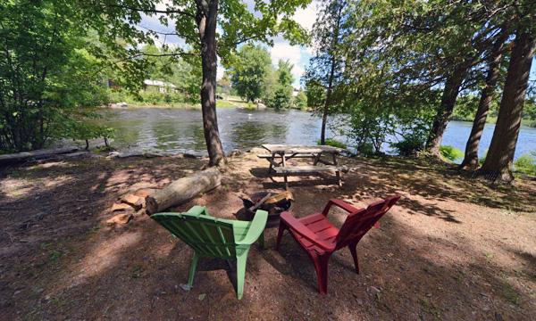 Campsite on river