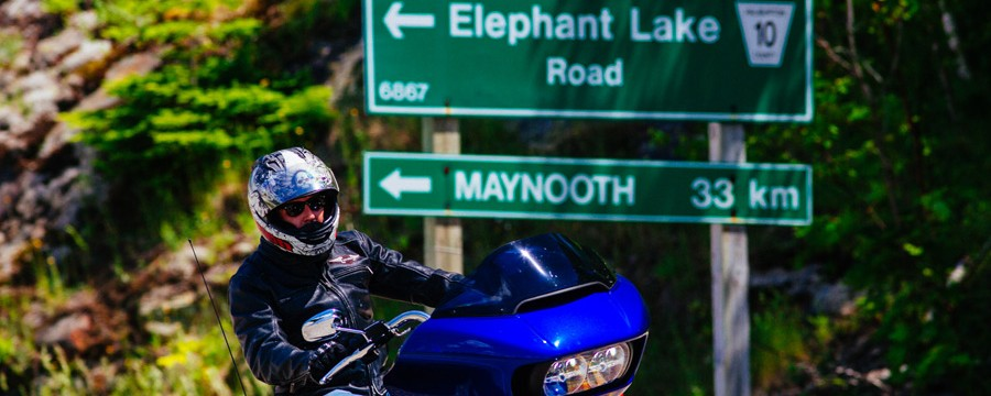 Motorcycle on Elephant Lake Road