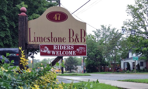 Sign: Limeston B&B Riders Welcome