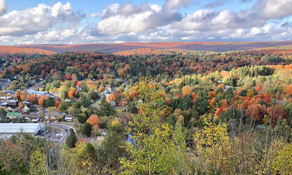 View of Haliburton from Skyline Park