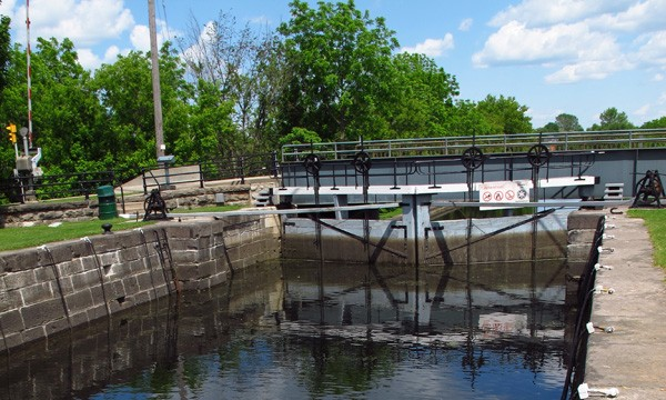 Canal locks closed