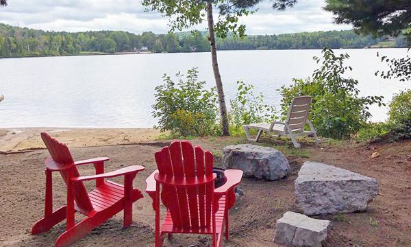 Campsite on lake